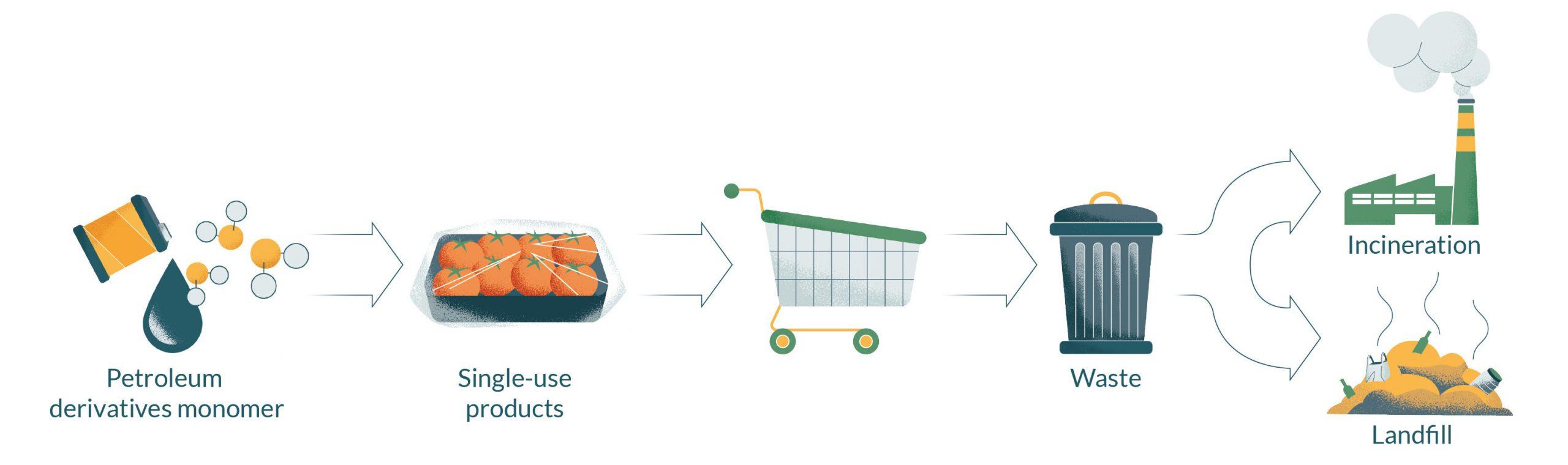 diagram about present plastic life